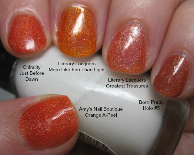 Orange holo comparison shot