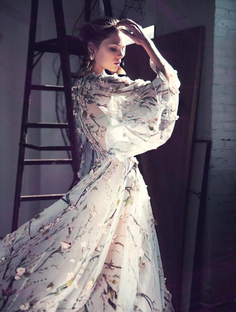 Caroline Brasch in Dolce&Gabbana, Elle Denmark February 2014