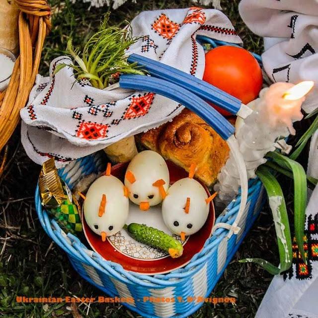 Ukrainian Easter Basket Goroshova village
