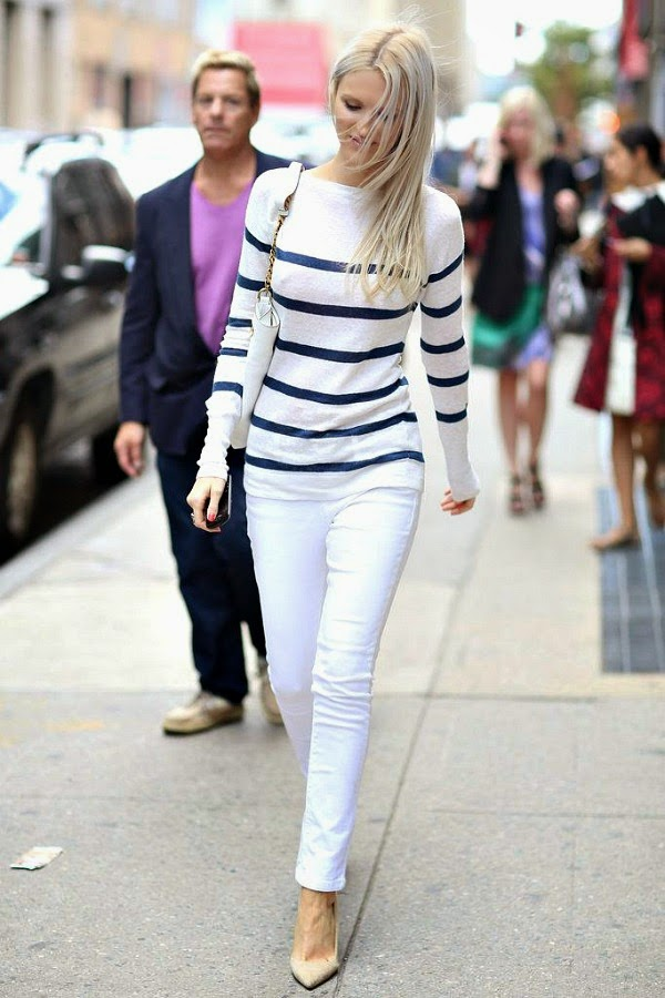white pants with stripes