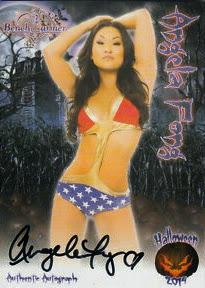 Angela Fong wearing a hot Wonder Woman bikini