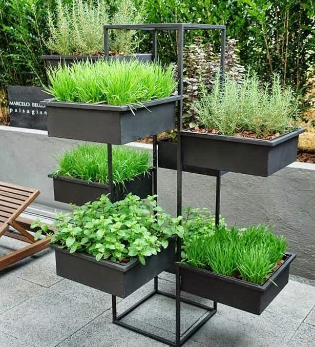 ideias jardins moradias : ideias jardins moradias:Temperos em vasos, floreiras e garrafas pets – Jeito de Casa – Blog de