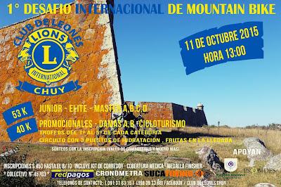 MTB - Desafío internacional Club de Leones de Chuy (Rocha, 11/oct/2015)