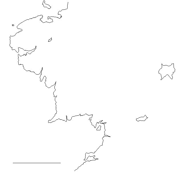 That Scale Line To The Lower Left Represents 500 Miles. Middle Earthu0027s  Border Is Now To Scale, And Ready For Import Into ArcGIS, Where The Magic  Can ...