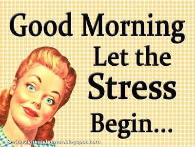Good morning, let the stress begin! Funny photo