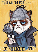 Grumpy Cat (aka Tardar Sauce) as Sherlock for a preshow commission for .