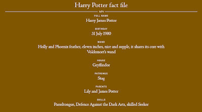 Harry Potter fact file