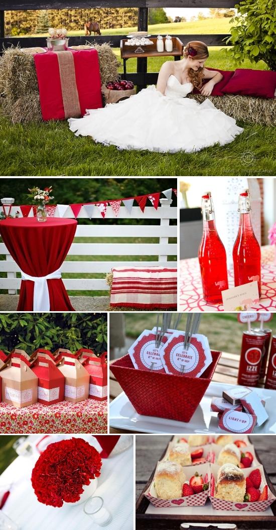 Lq Designs Pretty Picnic Wedding A Red Picnic Wedding Themed