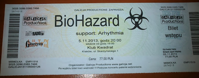 Bilet z koncertu