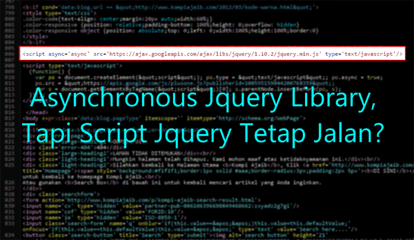 Asynchronous Jquery Library