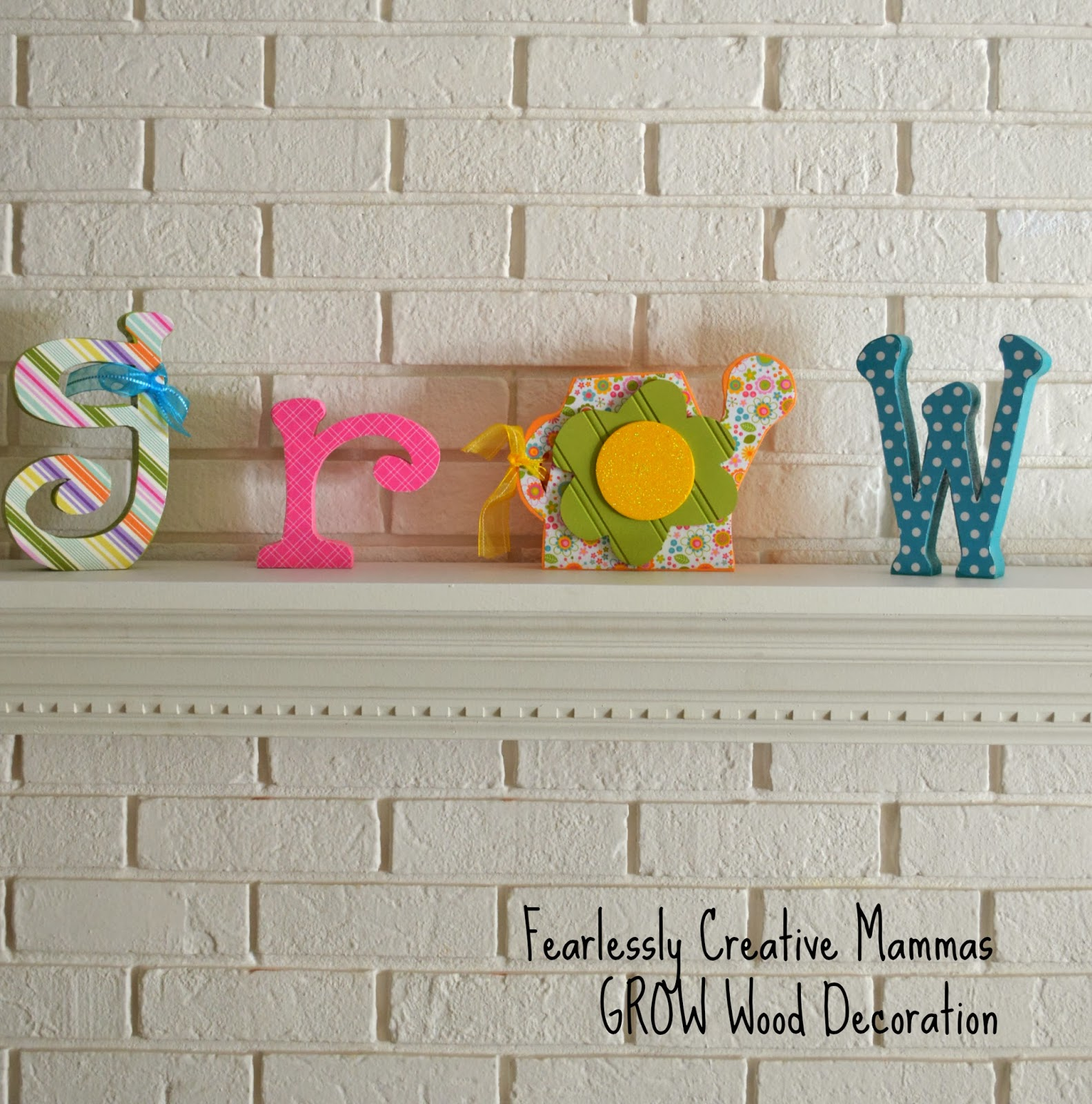 "GIVEAWAY!! ""GROW"" Wood decoration from Wood Creations and Fearlessly Creative Mammas"