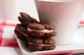 Galletas de cacao y crema de mantequilla