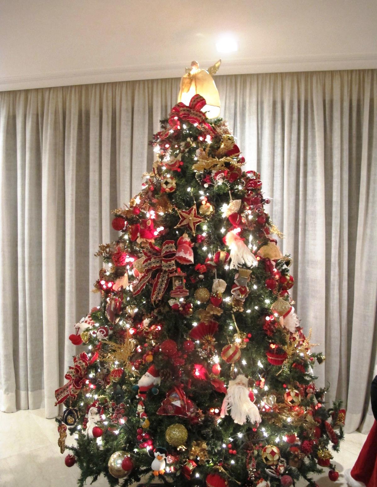 decoracao de arvore de natal tradicional:Blog da Andrea Rudge: MINHA DECORAÇÃO DE NATAL