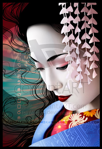 Some geisha imagery to influence my illustration