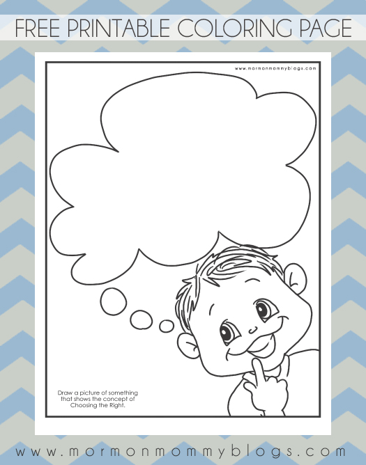 free thinking coloring pages - photo#22