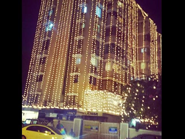 Decorated Salman Khan's home: Lighting on Khan family's residence
