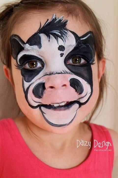 Pintar la cara vaca