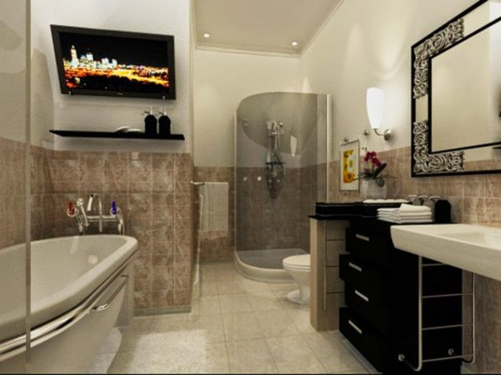 Small luxury bathroom design home decorating ideas for Small 1 2 bathroom decorating ideas