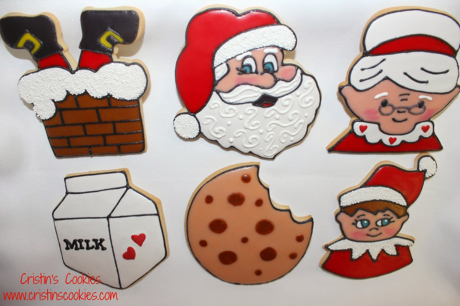 Cristin\'s Cookies: Is It Christmas Yet - Santa Cookies and an Elf too