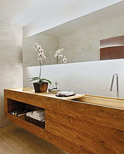 Coisas de Lélia Bancadas de pia em madeira -> Pia Movel Banheiro
