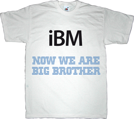 apple APPL macintosh ibm big brother george orwell t-shirt ephemeral-t-shirts