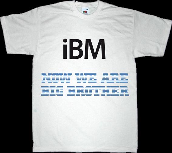apple APPL macintosh ibm big brother george orwell t-shirt ephemeral-t-shirts