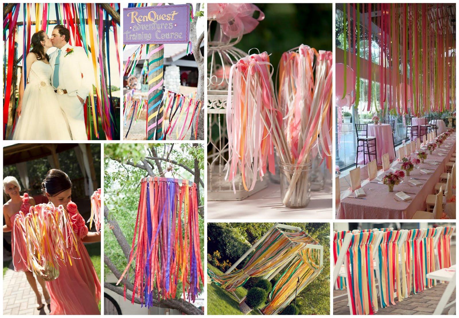 Wedding Decoration Idea Theme Ribbons