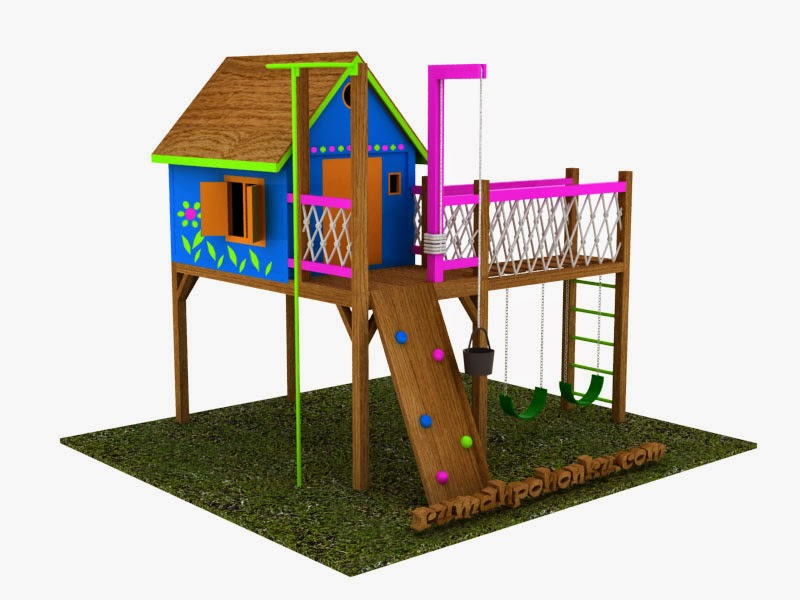 desain playground indonesia playground kayu