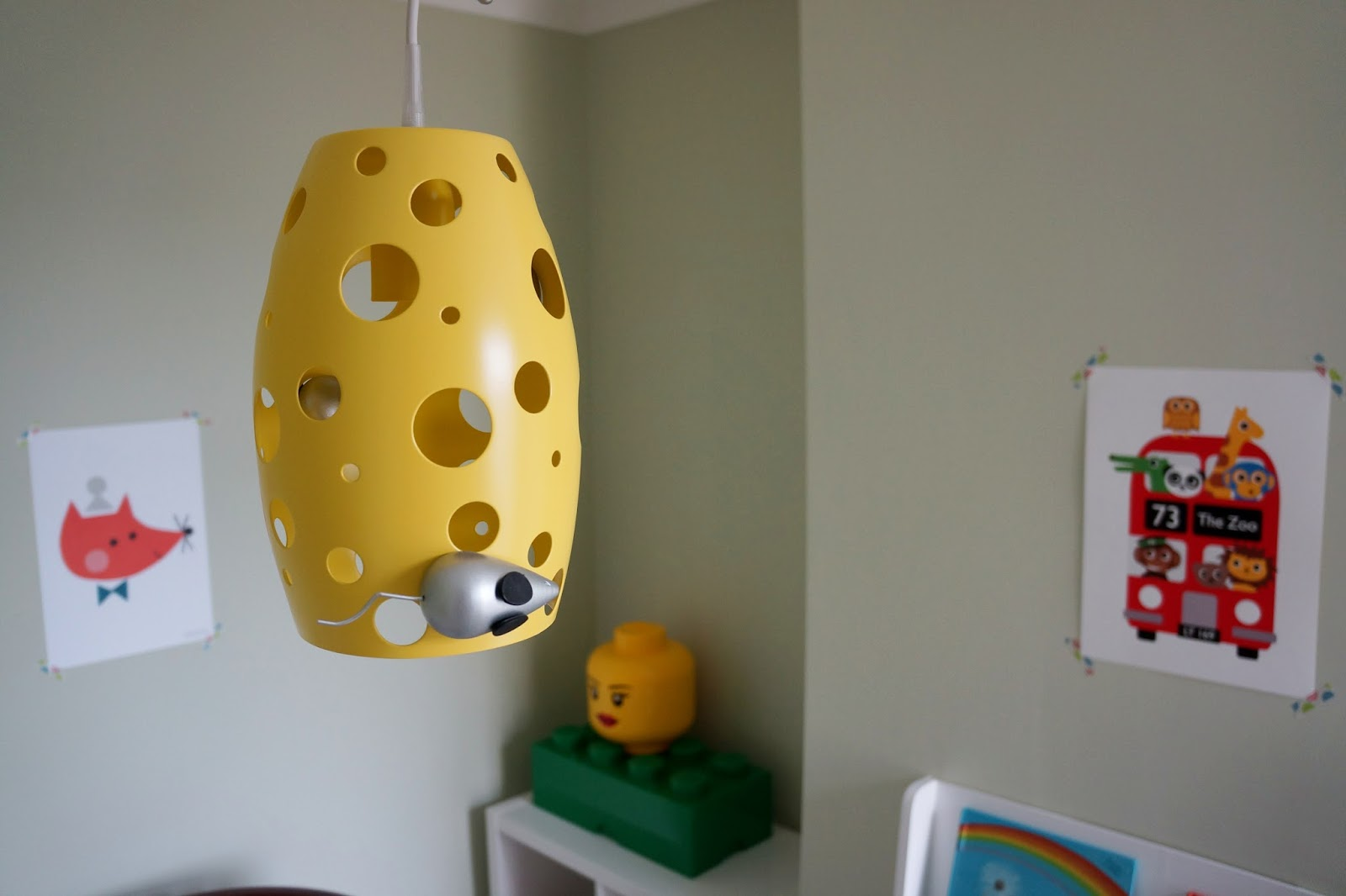 cheese mouse pendant kids lamp