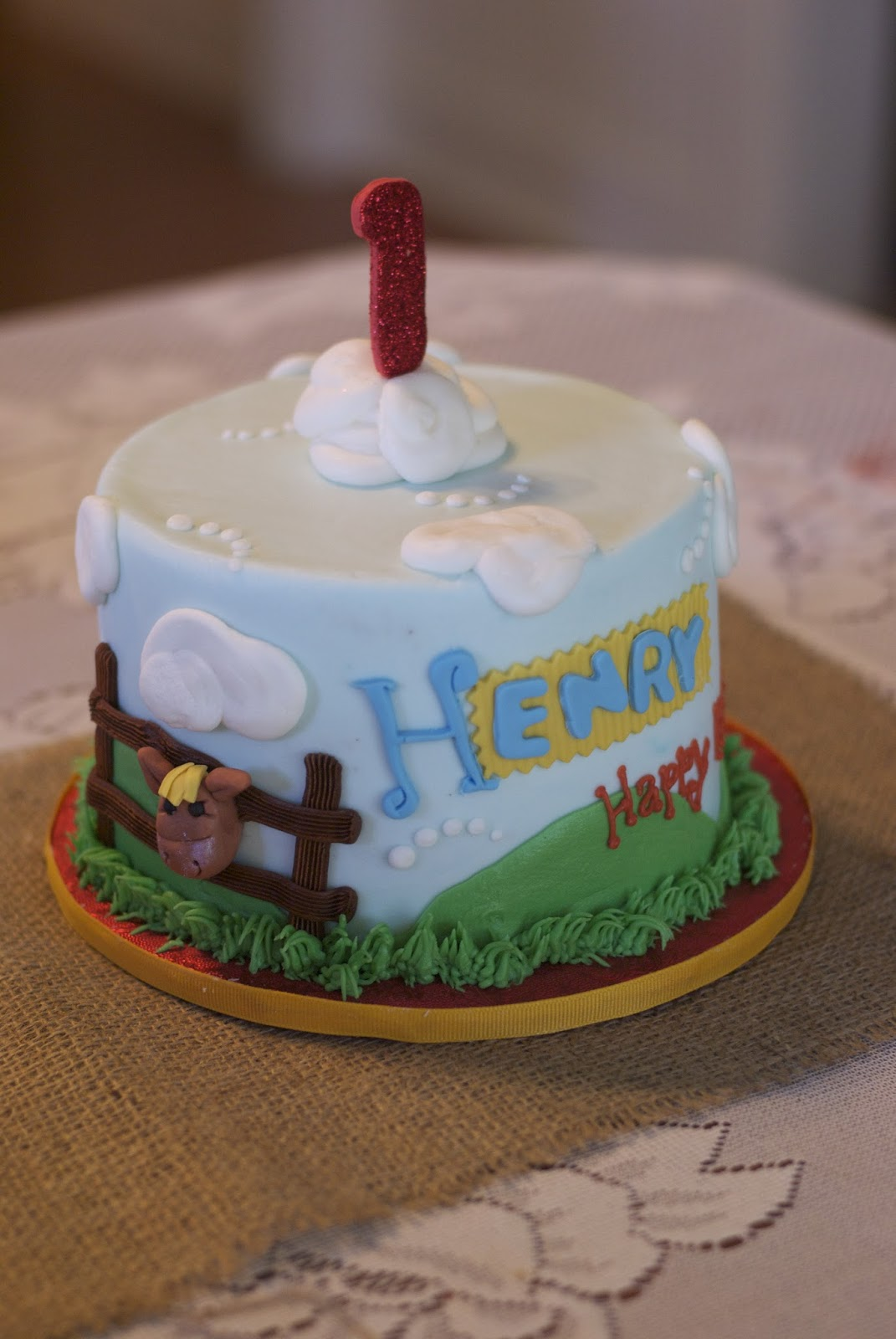 Country Cupboard Cakes Small 1st Birthday Farm Cake