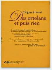 """""""Des ortolans et puis rien"""" éd. Pleine Page 2004"""