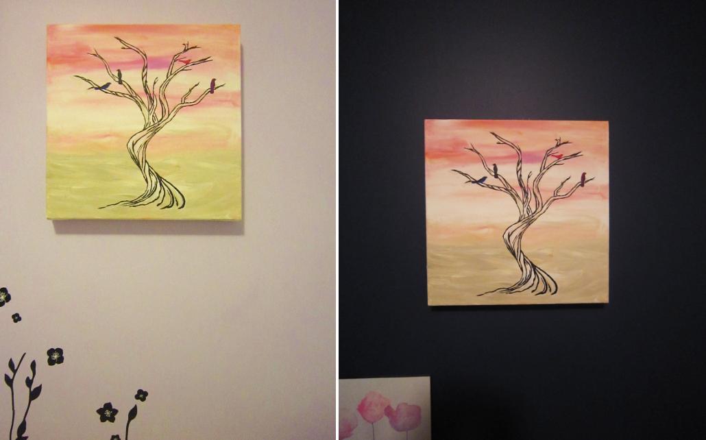 Wall Art Words Diy : Kiwi chic painting wall art the creamsicle tree