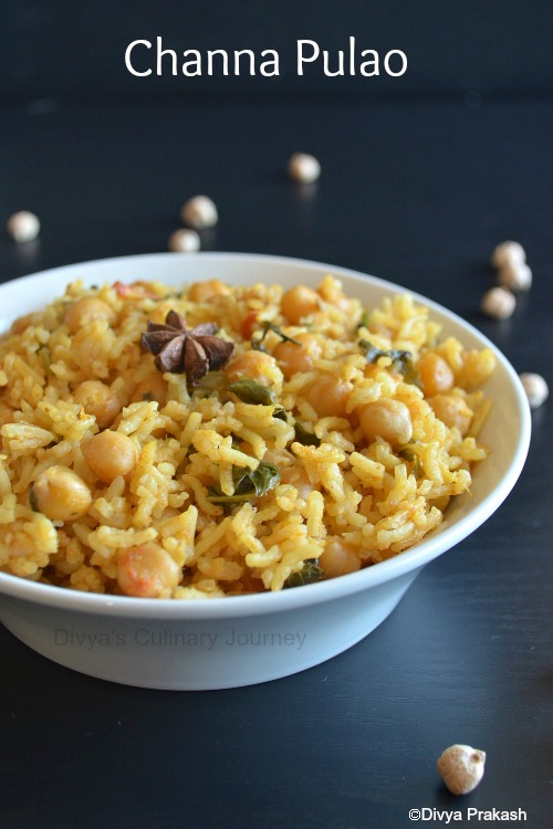 Pulav with Chickpeas