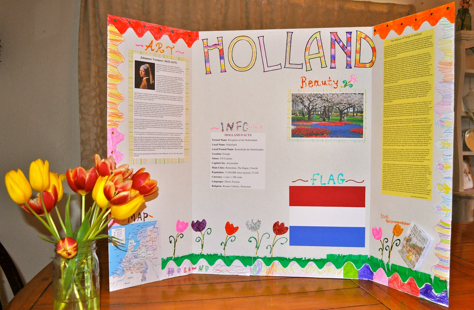 Classical Homemaking: Learning About Holland with Elmer's ...