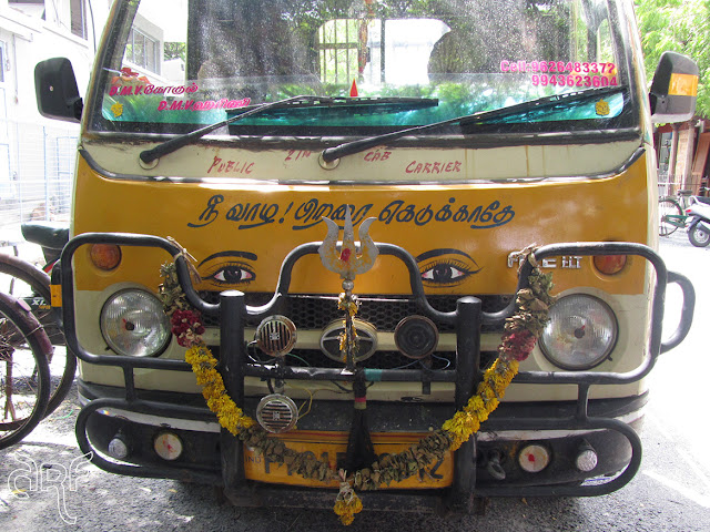 ornamented front of a truck