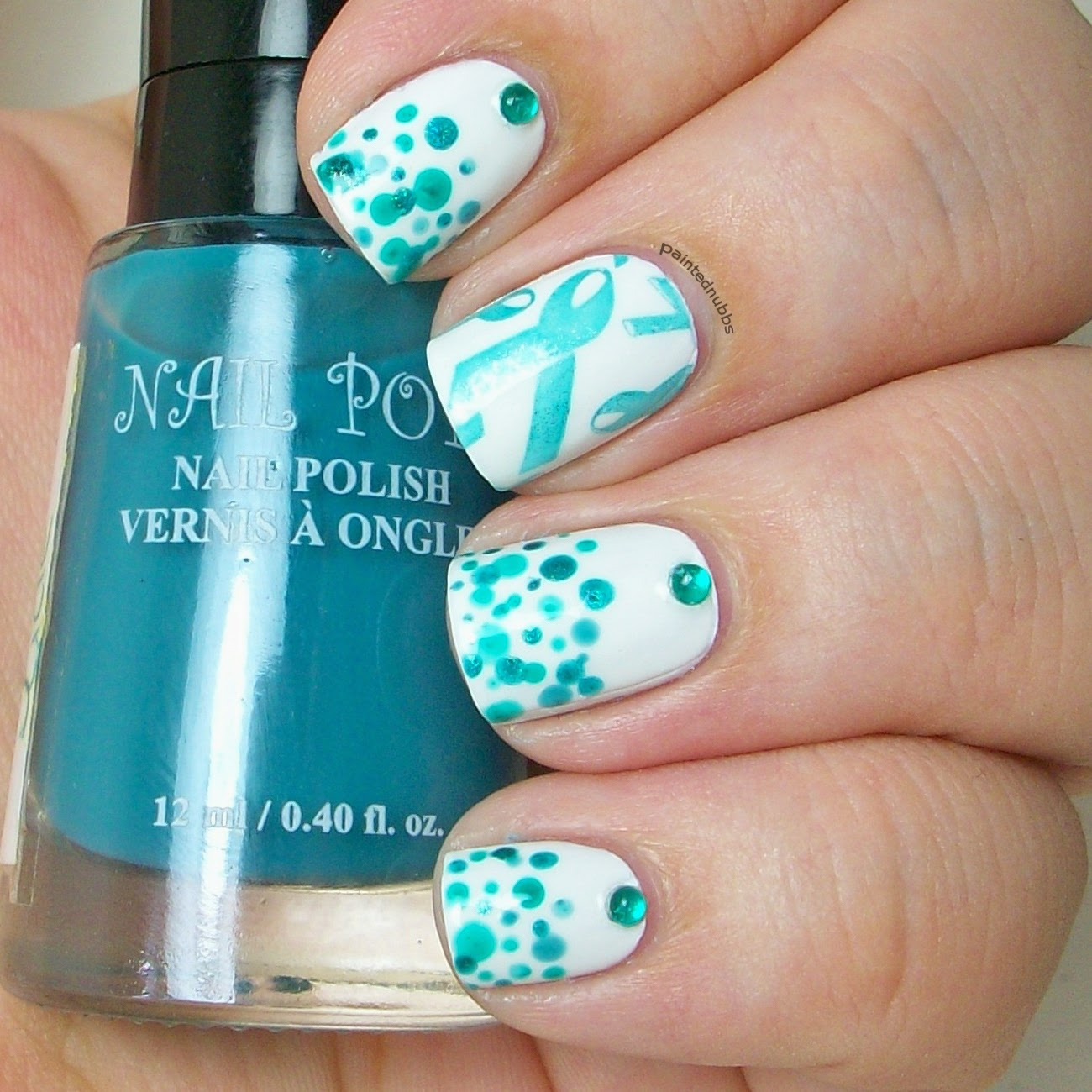 I Tried To Do A Polka Dot Grant But It Needs Some Work Have No Clue The Easiest Forms Of Nail Art Always Seem Be Hardest For Me
