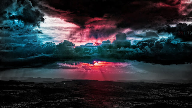 Sunset Scenery Artwork HD Wallpaper