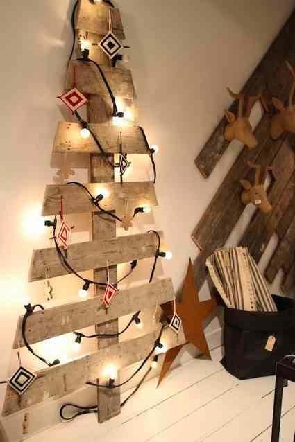 Choinka drewniana Boże Narodzenie