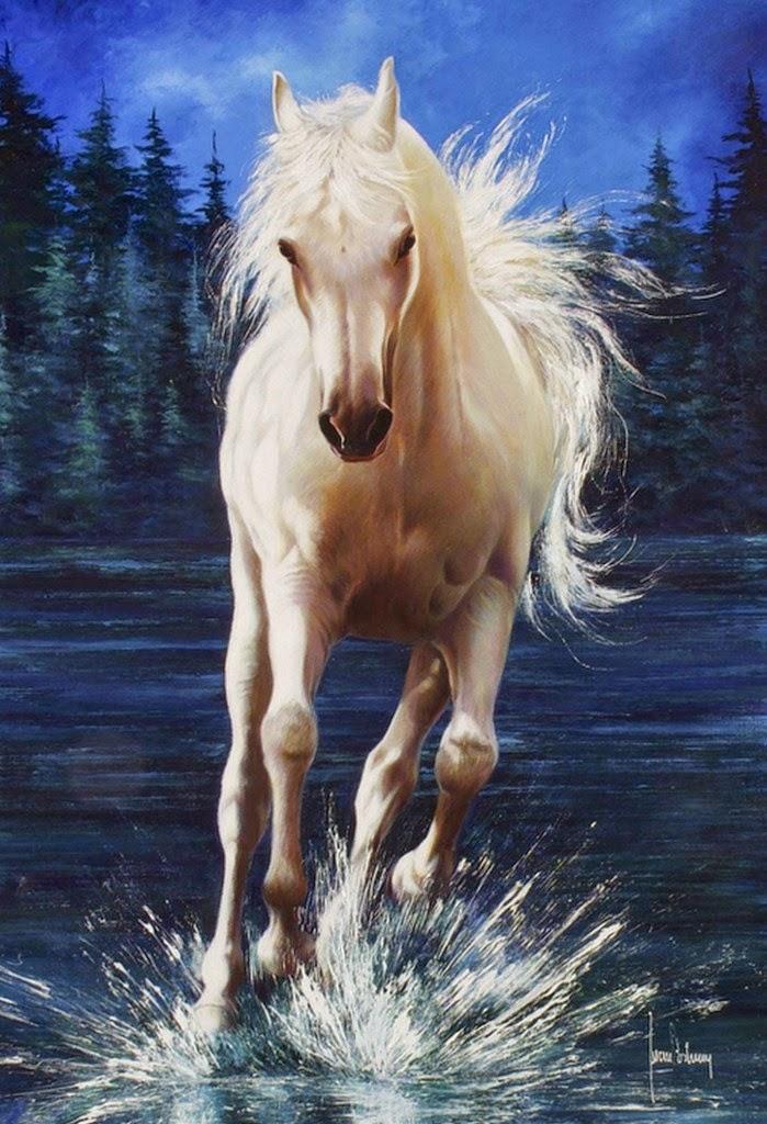 pinturas-al-oleo-de-caballos-en-el-mar