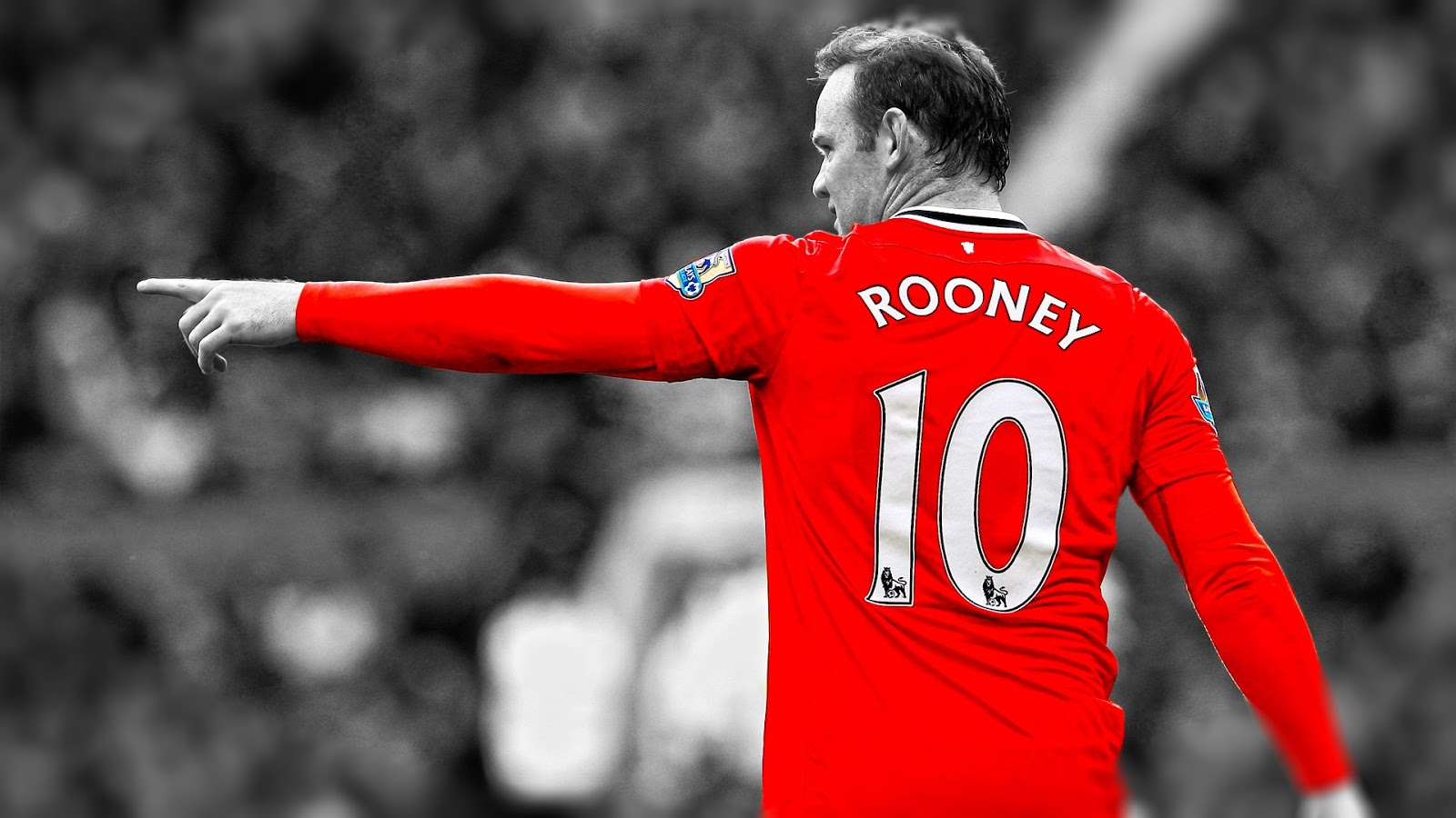 Wayne Rooney Number 10 Wayne Rooney with number jersy