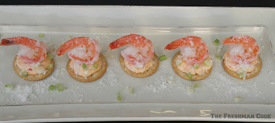 shrimp on crackers