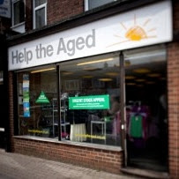 Help The Aged charity shop