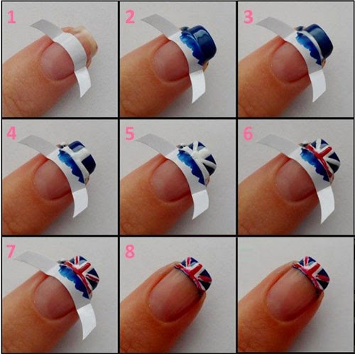 Popular Union Jack Nails Step By Step Entertainment News Photos