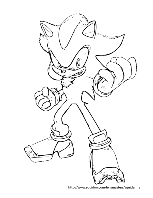sonic coloring pages shadow - photo#23