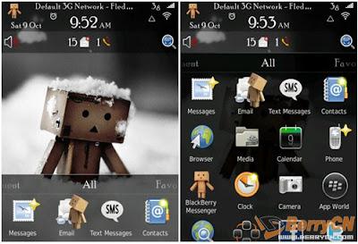 Tema Blackberry Danbo Cardboard Box Robot Theme for OS 6.0