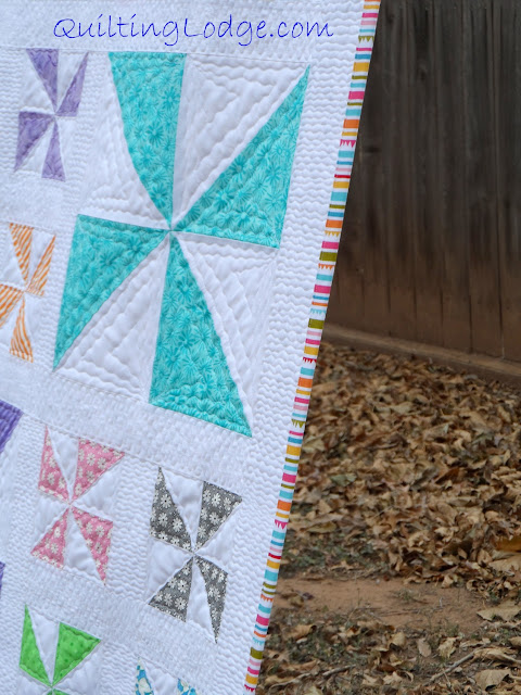 Quilting Lodge Pinwheel Quilt ~ Binding