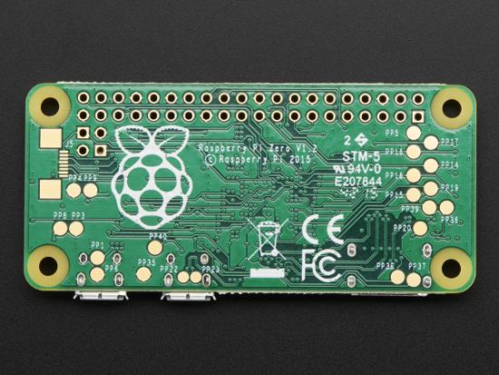 Raspberry Pi Zero, verso