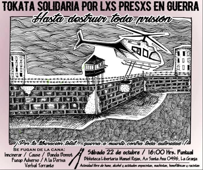 LA GRANJA:  TOKATA SOLIDARIA POR LXS PRESXS EN GUERRA