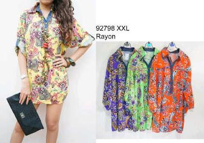 blouse katun rayon kode 92798