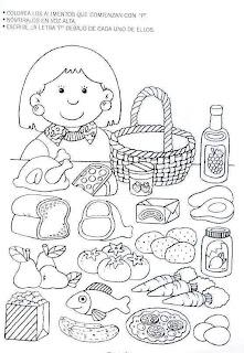 Recursos para Educación Infantil: ¡A pintar todos los alimentos ...